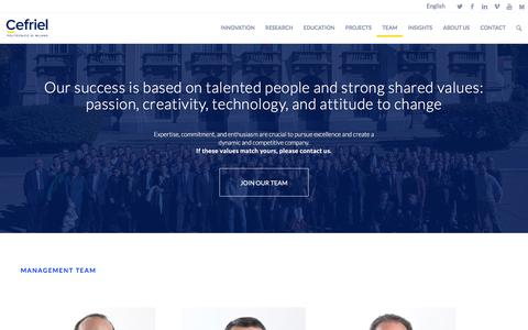 Screenshot of Team Page cefriel.com - Team and careers - captured May 11, 2017