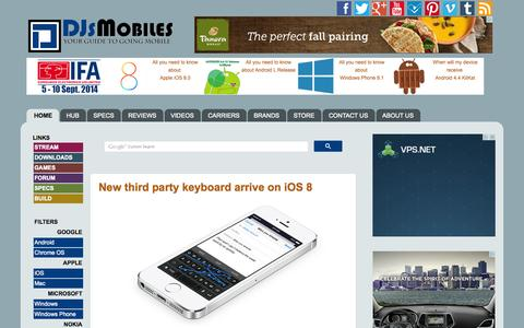 Screenshot of Home Page Press Page djsmobiles.com - DJs Mobiles | Technology News, Reviews and Specs - captured Sept. 19, 2014