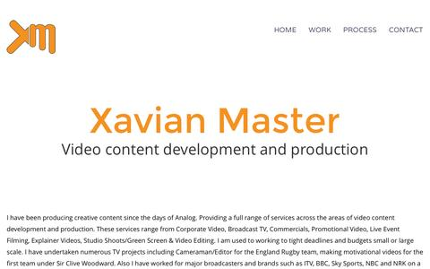 Screenshot of Home Page xavianmaster.com - Home Page - Xavian Master - captured Feb. 16, 2016