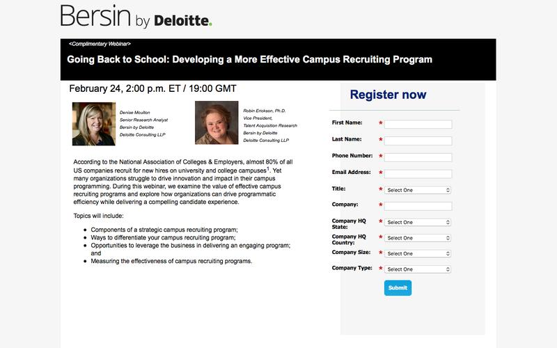Going Back to School: Developing a More Effective Campus Recruiting Program