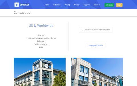 Screenshot of Contact Page blocksi.net - Contact us - captured July 5, 2018