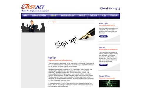 Screenshot of Signup Page etest.net - eTest - Sign up - captured Oct. 3, 2014