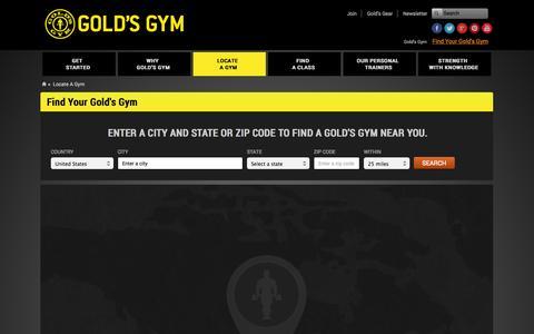 Screenshot of Signup Page goldsgym.com - Gold's Gym   Locate A Gym   Fitness Gym - captured Sept. 22, 2014