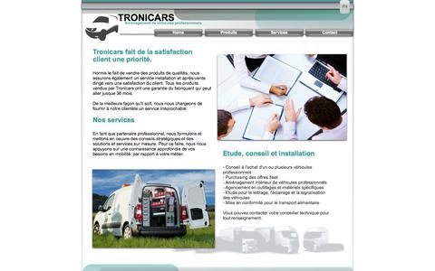Screenshot of Services Page tronicars.be - Diensten  -  Services - captured Oct. 7, 2014