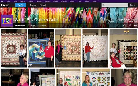 Screenshot of Flickr Page flickr.com - Flickr: South Bay Quilters Guild's Photostream - captured Oct. 25, 2014