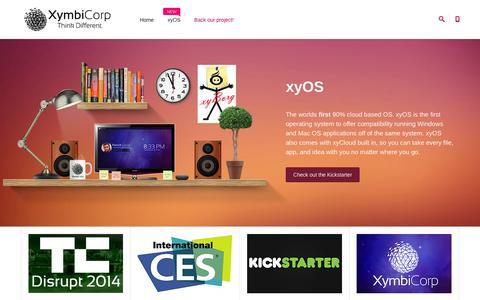 Screenshot of Home Page xymbi.com - Xymbi | Home - captured Oct. 9, 2014