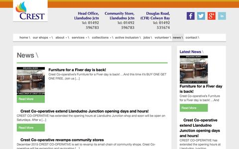 Screenshot of Press Page crestcooperative.co.uk - Crest Co-operative  » News - captured July 16, 2016