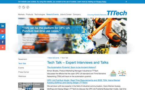 Screenshot of tttech.com - Tech Talk – Expert Interviews and Talks - TTTech - captured Dec. 9, 2016