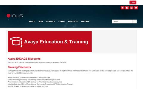 Screenshot of Signup Page iaug.org - Join - International Avaya Users Group - captured Oct. 3, 2018