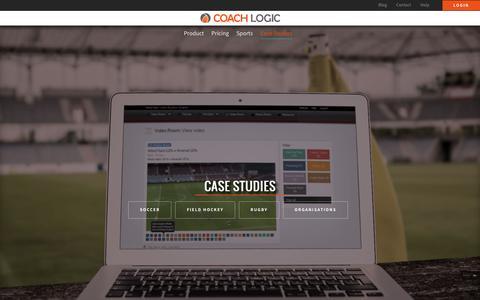 Screenshot of Case Studies Page coach-logic.com - Case Studies - Coach Logic - captured July 14, 2016