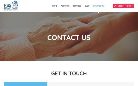 Screenshot of Contact Page psshomecare.com - Contact us - PSS HomeCare - captured Dec. 7, 2018