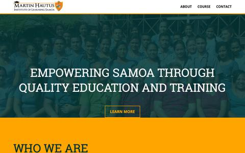 Screenshot of Home Page martinhautus.edu.ws - Martin Hautus Institute Of Learning Samoa - captured Dec. 17, 2018