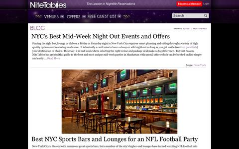 Screenshot of Blog nitetables.com - Blog   NiteTables - captured Sept. 11, 2014