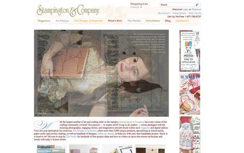 Screenshot of Home Page stampington.com - Stampington & Company - Stampington - captured June 17, 2015