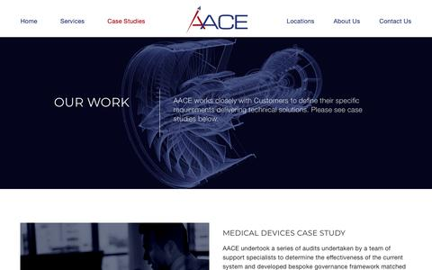 Screenshot of Case Studies Page aace.co.uk - Projects Archive - AACE - captured Oct. 3, 2018