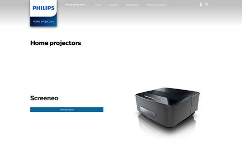 Screenshot of philips.com - Home projectors. Discover the full range | Philips - captured Aug. 2, 2017