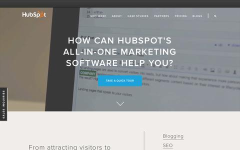 Screenshot of Products Page hubspot.com - HubSpot Product Overview - captured Nov. 2, 2015