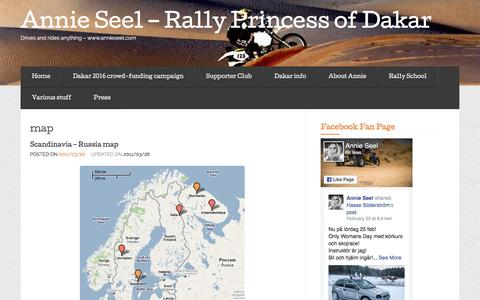 Screenshot of Maps & Directions Page wordpress.com - map « Annie Seel - Rally Princess of Dakar - captured Feb. 27, 2017