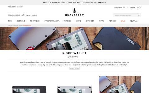 Ridge Wallet Online Shop  | Huckberry