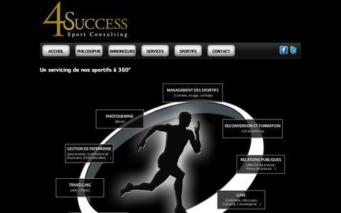 Screenshot of Services Page 4success.fr - 4 success - Services aux sportifs - captured Oct. 7, 2014