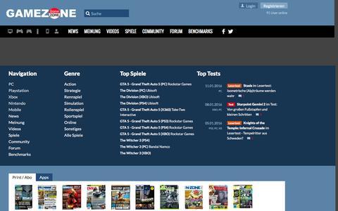 Screenshot of Team Page gamezone.de - GameZone - Die Community von Spielern für Spieler! - captured Jan. 17, 2016