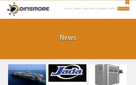 Screenshot of Press Page dinsmoreinc.com - News - Dinsmore, Inc. - captured Nov. 6, 2015