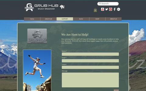 Screenshot of Support Page grubhubusa.com - Support  | United States | Grub Hub - captured Oct. 16, 2018