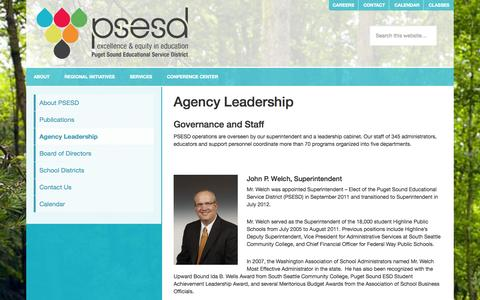 Screenshot of Team Page psesd.org - Agency Leadership - captured Sept. 23, 2014