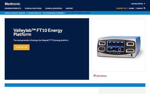Valleylab™ FT10 Energy Platform   Medtronic