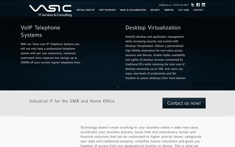Screenshot of Home Page vasic.us - 24/7 IT Services IT Consulting IT Support Tech Support Computer Repair - captured Oct. 6, 2014