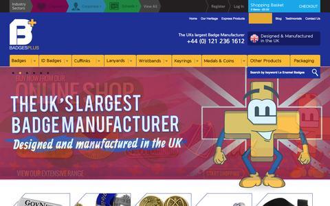 Screenshot of Login Page badgesplus.co.uk - ! Bespoke & Personalised Badges | Badges Plus Ltd UK Badge Manufacturer - captured Sept. 30, 2014