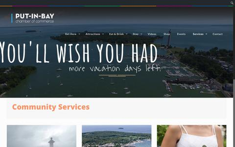 Screenshot of Services Page visitputinbay.com - Services | Put-in-Bay Chamber of Commerce & Visitors Bureau - captured Oct. 21, 2018