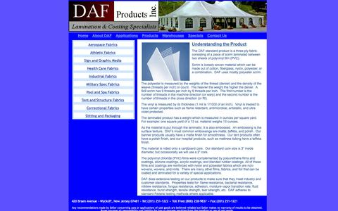 Screenshot of Products Page dafproducts.com - DAF Products - Understanding the Product - captured Jan. 7, 2016