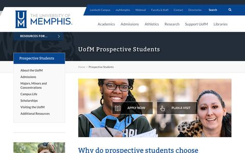UofM Prospective Students -        Prospective Students        - University of Memphis