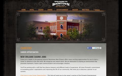 Screenshot of Jobs Page boomtownneworleans.com - Louisiana Jobs - Careers » - captured Oct. 5, 2014
