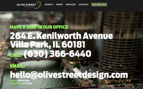 Screenshot of Contact Page olivestreetdesign.com - Contact | Olive Street Design - captured Oct. 26, 2015