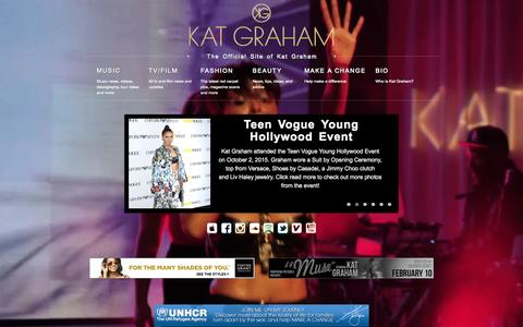 Screenshot of Home Page katgraham.com - Kat Graham | The Official Site of Kat Graham - captured Oct. 10, 2015
