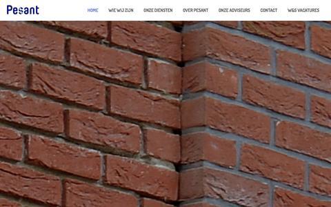 Screenshot of Home Page pesant.nl - Pesant - captured Jan. 27, 2016