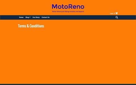 Screenshot of Terms Page motoreno.com - Terms & Conditions | MotoReno - captured Jan. 11, 2016