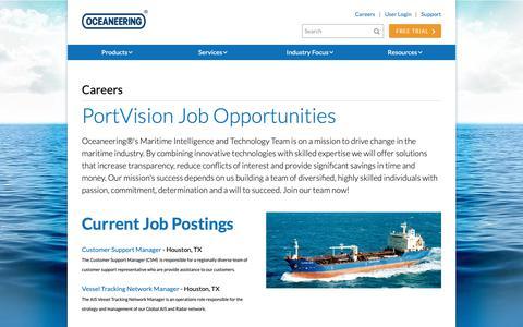 Screenshot of Jobs Page portvision.com - Careers - Portvision - captured Oct. 28, 2018