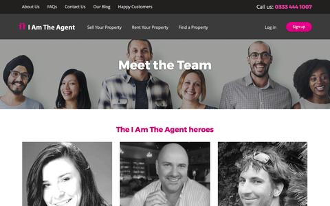 Screenshot of Team Page iamtheagent.com - I Am The Agent Estate Agencies – Online and In Person - captured May 24, 2017