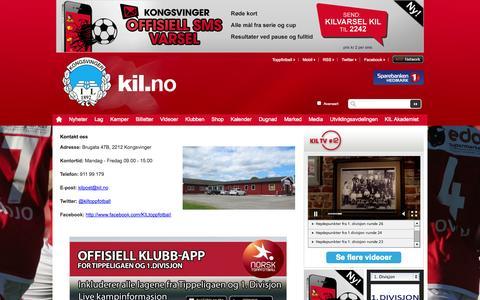 Screenshot of Contact Page kil.no - Kontakt  oss  | Kongsvinger - captured Oct. 6, 2014