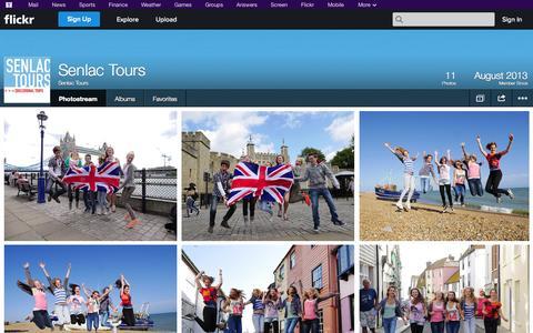 Screenshot of Flickr Page flickr.com - Flickr: Senlac Tours' Photostream - captured Oct. 22, 2014