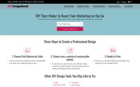 Create Flyers with our Flyer Maker | DesignMantic: The Design Shop