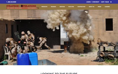 Screenshot of Home Page strategic-operations.com - Home | Strategic OperationsStrategic Operations | Hyper Realistic Tactical Training - captured Sept. 21, 2015