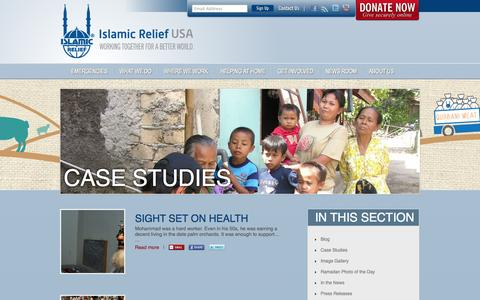Screenshot of Case Studies Page irusa.org - Case Studies – Islamic Relief USA - captured Sept. 25, 2014
