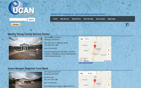 Screenshot of Locations Page ucancap.org - UCAN :: Locations - captured Oct. 19, 2017