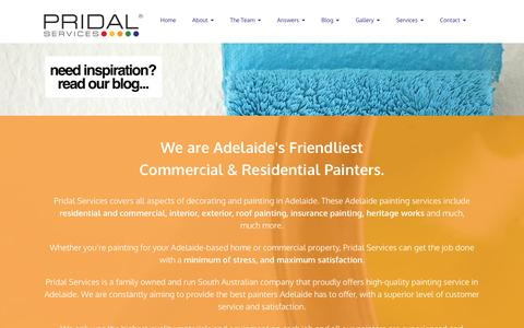 Screenshot of Home Page pridal.com.au - Pridal Services - Painters Adelaide - captured Jan. 31, 2016