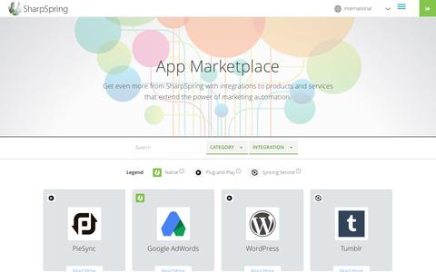 App Marketplace and integrations | SharpSpring