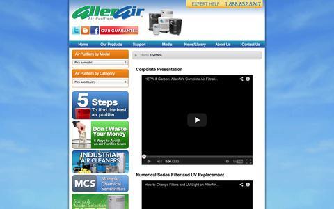 Screenshot of Press Page allerair.com - AllerAir.com - captured Oct. 4, 2014